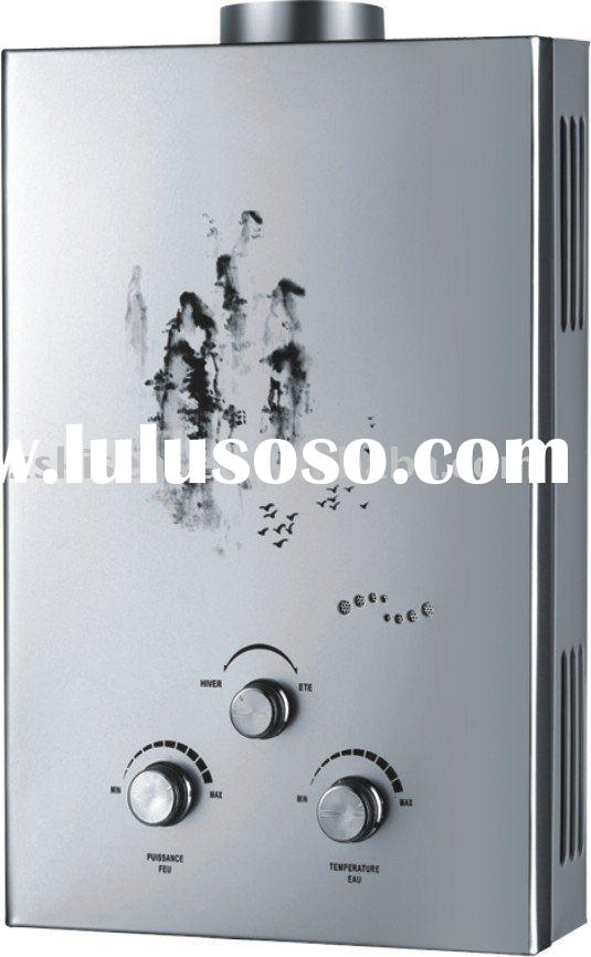 Decorated Glass Panel Gas Water Heater with 0.02 to 0.5MPa Water Pressure