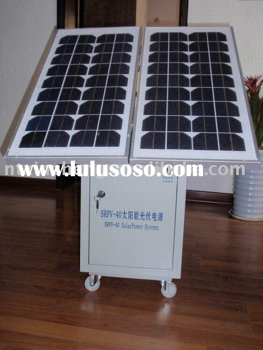 Mono and Poly solar panel Small portable household off-grid solar power system 50W