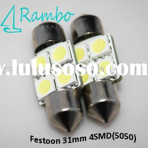 auto LED lighting,car LED bulb Festoon 4SMD 31mm,High Power LED lamp,DC 12V 24V