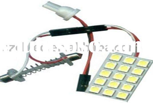 car led interior roof lamp PCB-15SMD-5050 auto bulb light