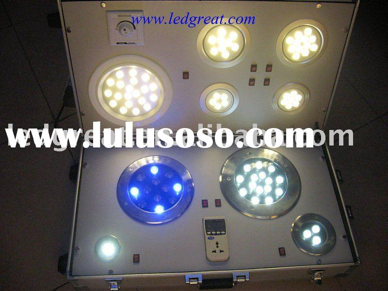 led light demo case with power meter