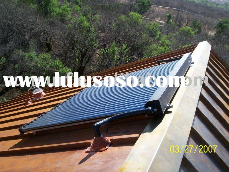roof mounting solar collector,home solar heating,DIY solar panels installation (CE, Keymark)