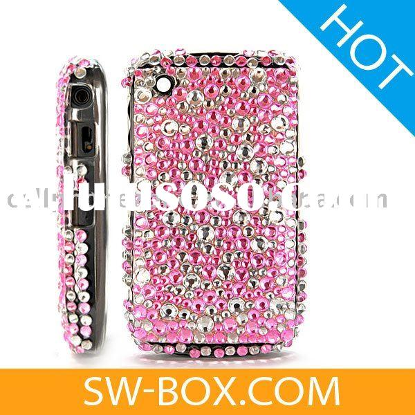 Diamond Rhinestone Bling Plastic Hard Case for iPod Touch 2 / 3 (Pink) /for ipod case