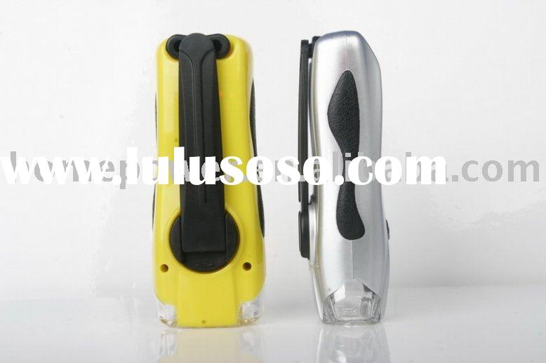 Dynamo flashlight torch, cranking flashlight, dynamo torch flashlight
