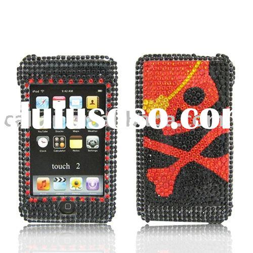 Rhinestone Ornament Hard Protect Case For Ipod touch 2