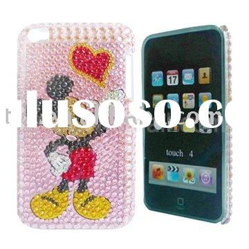 Shining Cool Mikey Mouse and Heart For Touch 4 Diamond hard Case Cover
