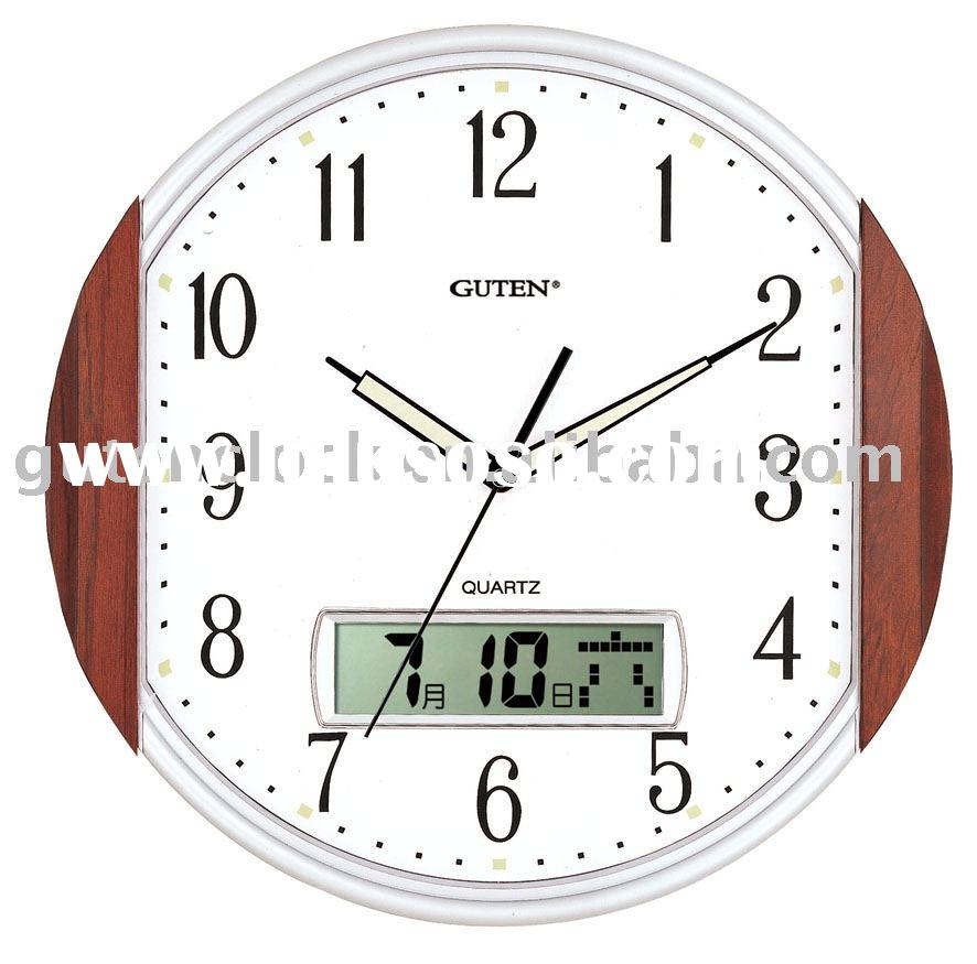 digital wall clock with date and day circu digital wall clock
