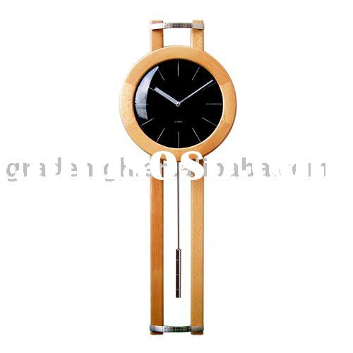 Wooden Wall Clock (wooden clock,pendulum clock)