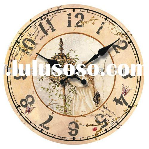 wooden clock/wall clock/time piece/home decoration/art clock