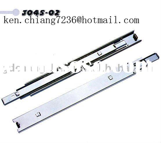 45mm 3-fold #3045-02 full extension ball bearing steel drawer slide with bayonet for tool box