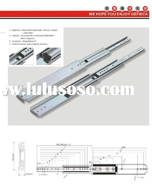 76mm full extension Heavy loading Ball Bearing Drawer Slide