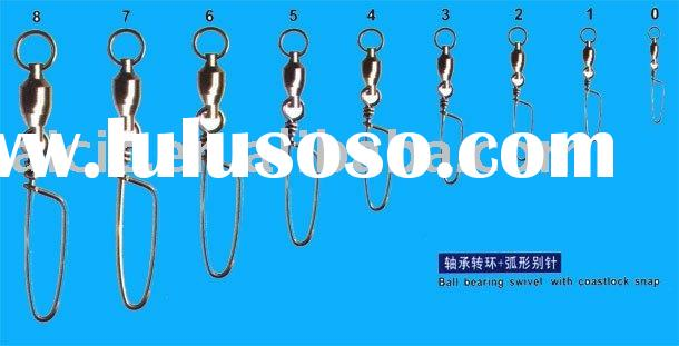 Ball Bearing swivel with coast lock snap/fishing accessories