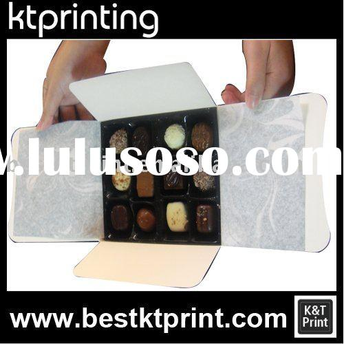 Classical chocolate paper packaging box, chocolate containers Printing Factory