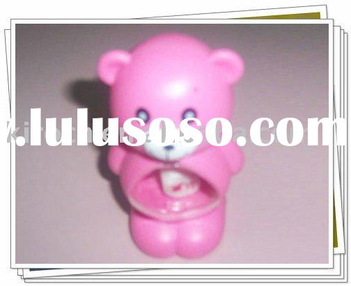 Creative plastic pink teddy bear