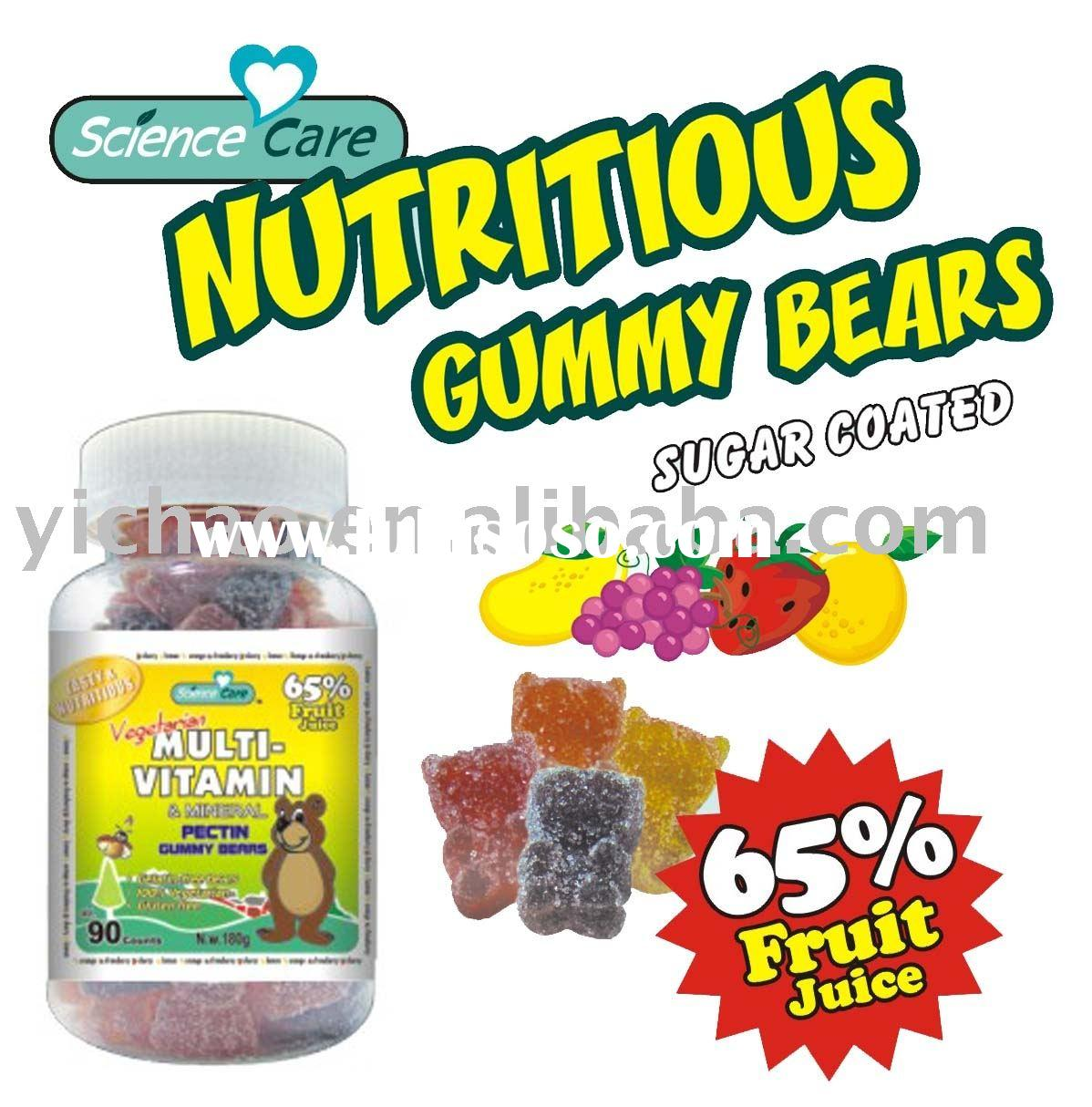 Multi-vitamin Pectin Gummy Bear
