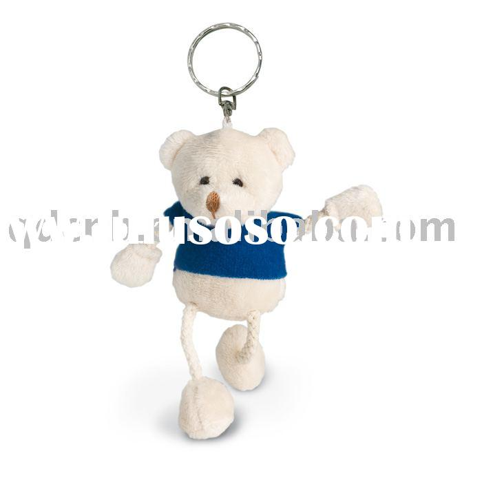 Plush Bear Keyring Mini Plush Bear T Shirt String Legs Mini Plush Toy