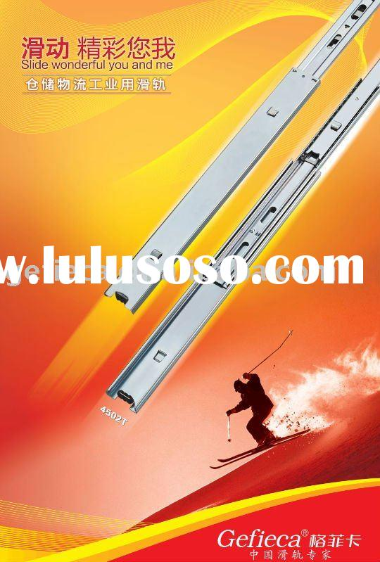 ball bearing drawer slide , telescopic metal drawer slide