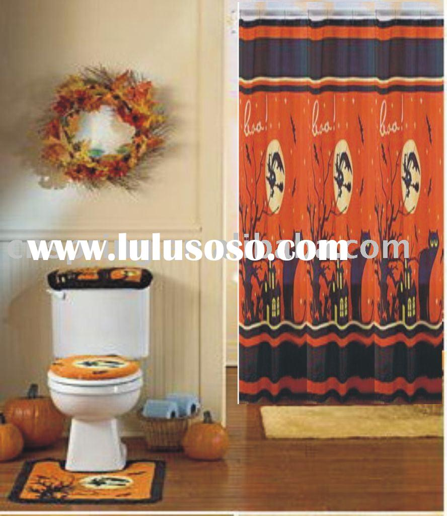 matching bathroom accessory,with shower curtain and bath rug set
