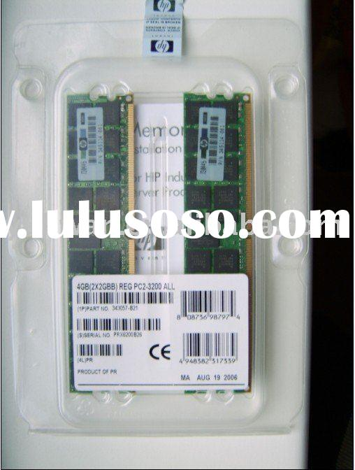 343057-B21  4GB(2x2GB) DDR2 PC2-3200 400MHz REG ECC server RAM memory
