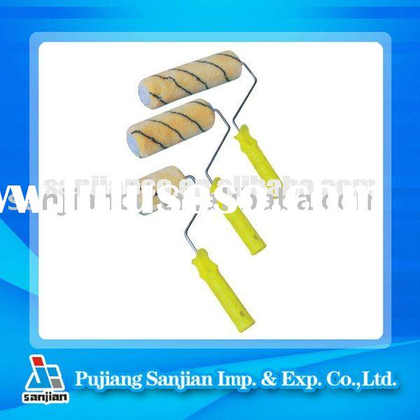 Cage system frame with Acrylic Fabric paint roller brush