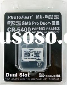 Photo fast,dual slot adapter,memory stick dual slot adapter