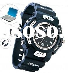 Digital Watch - MP3 Watch, 1GB, Metal case and PU band, Build-in USB Memory Disk