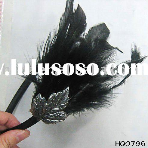 Feather headband flower wedding hair accessories