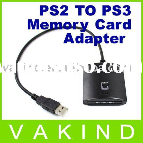 For PS2 Memory Card Adapter For Playstation 3 PS3 Game NEW