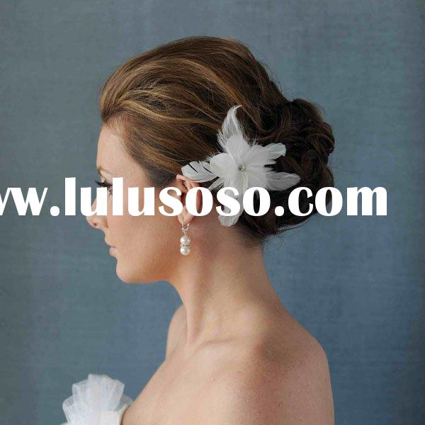 Feather fascinator Feather flower which be used for wedding bridal