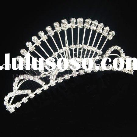 bridal tiara, hair accessories, hair ornament,rhinestone tiara