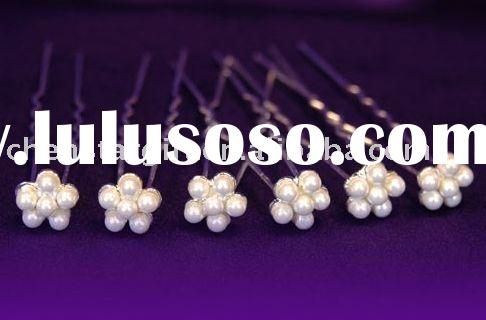 bridal wedding jewelry, fashion hair clip, pearl hair pins, bead hair accessories