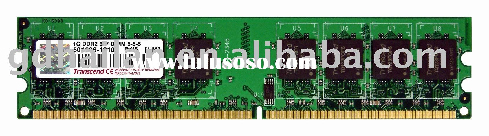 computer memory module DDR2 800mhz PC6400 DIMM 240 pin for desktop (256MB,512MB,1GB,2GB)
