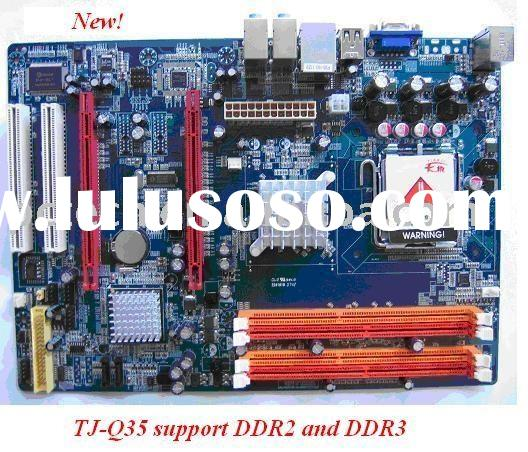 computer parts,motherboard TJ-Q35 support DDR2 and DDR3