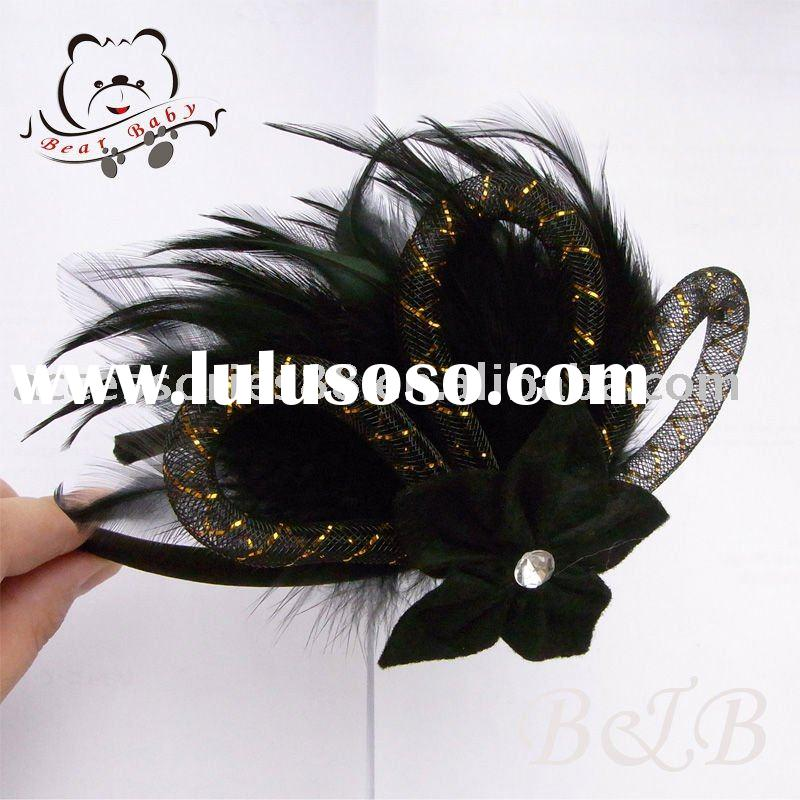 fashion feather&flower headbands/hair accessories