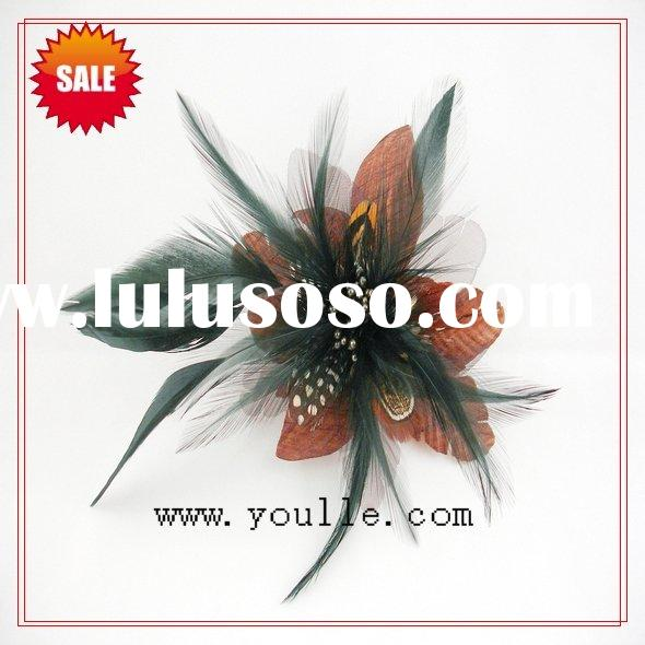 fashion hair accessory,feather flower