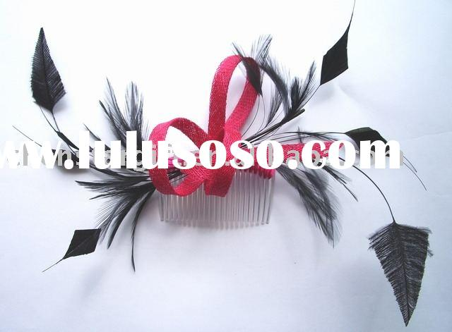 feather fascinators, feather flower, wedding accessories