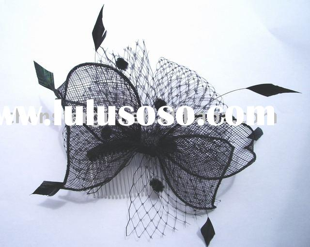 feather fascinators, feather flower, wedding accessories,hair flower