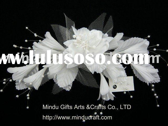 satin flower wedding