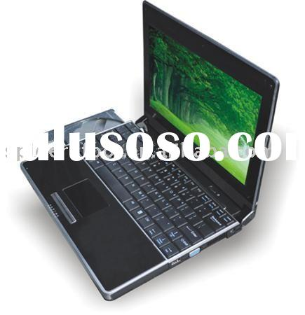 wholesale free shipping  10.2 inch LCD laptops netbooks with DVD ROM 1G memoery 160HDD