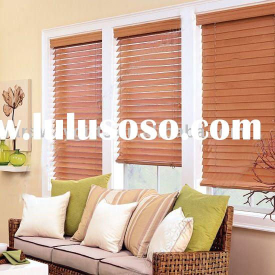 "Custom 2"" Real natural Wood Window Blinds"