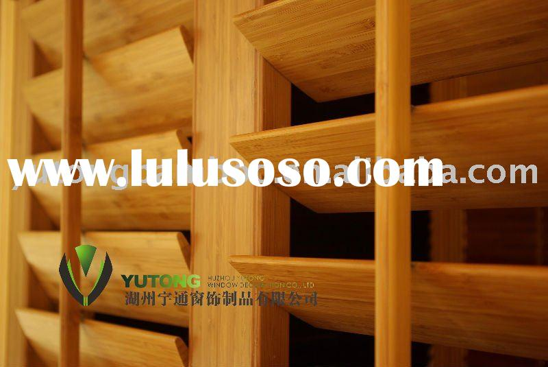 Interior bamboo louver windows shutters