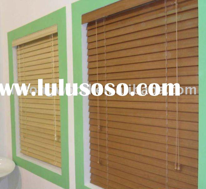 wood window blinds and shutter