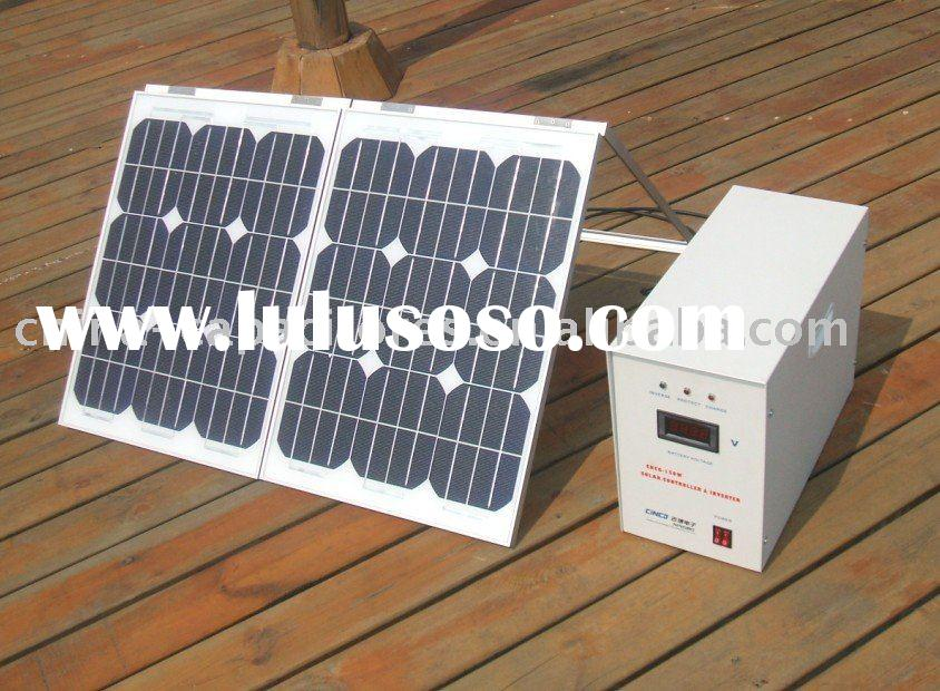 50W solar kit,portable solar system for home use,50w off-grid solar system for lighting