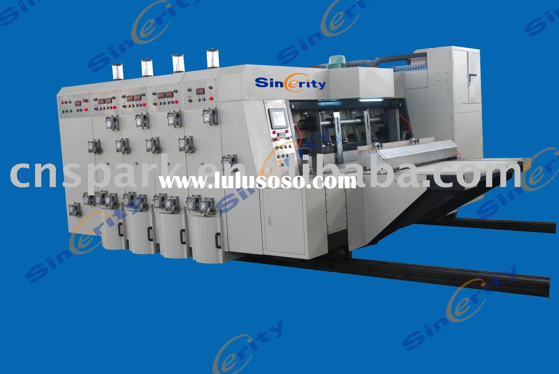 automatic carton printing slotting die-cutting machine