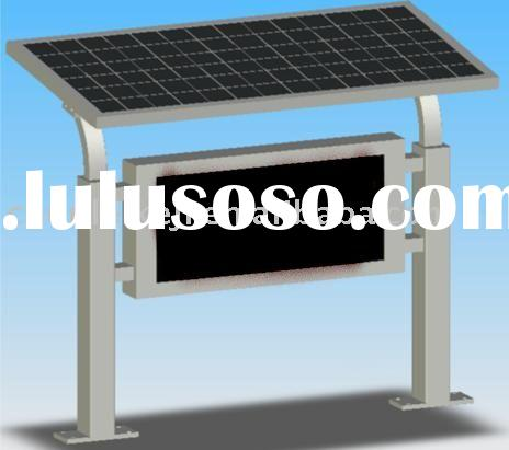 outdoor solar LED monochrome display system