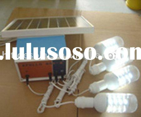 10W portable solar system with light