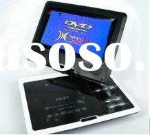 7inch portable dvd player with tv tuner,sd/mmc card reader,usb,game,dvd and MPEG-4 functions
