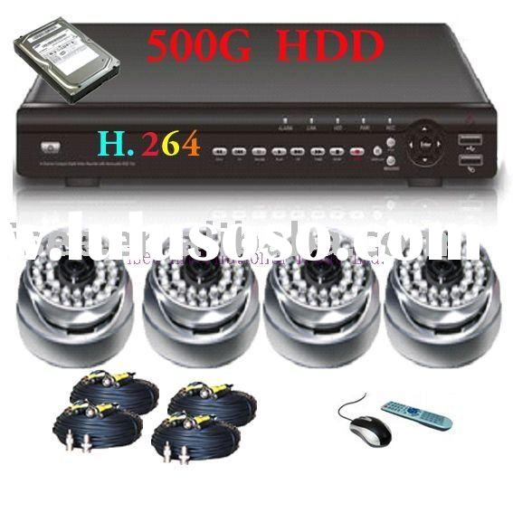CCTV H.264 Network DVR CCD Camera Home security System
