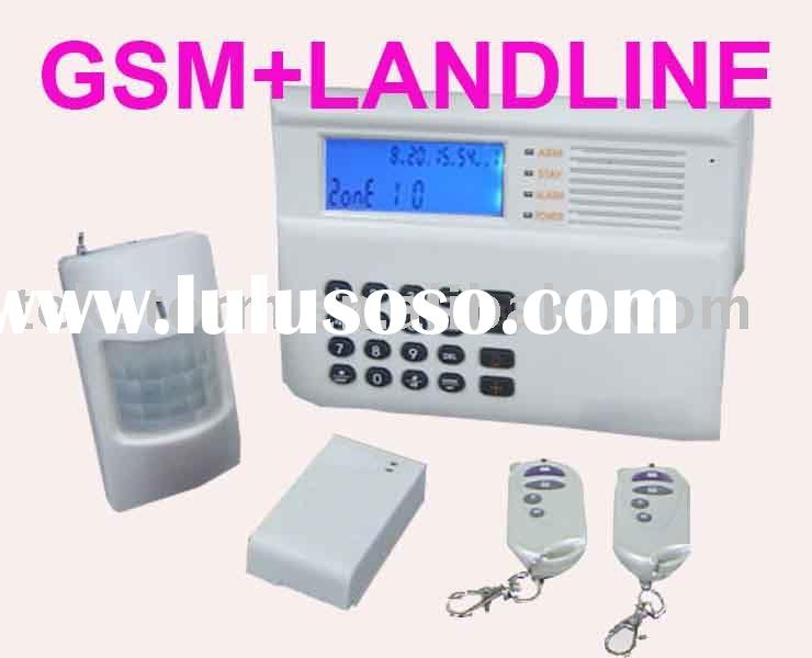 GSM and Landline Auto Switch Home Alarm System