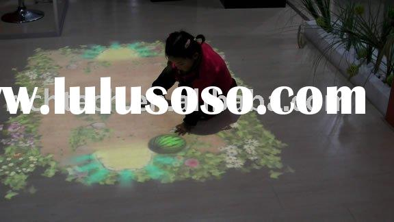 Interactive floor/wall projector display system for Children amumentment park